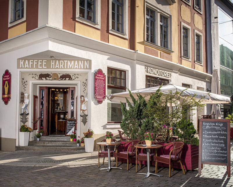 Café und Konditorei Hartmann in der Silberstadt Freiberg